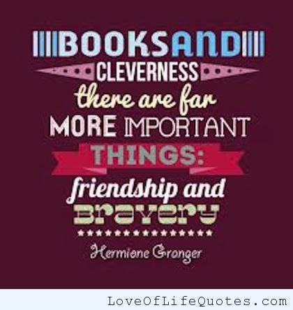 Quotes Escaping Reality One Book At A Time Classy Harry Potter Quote About Friendship